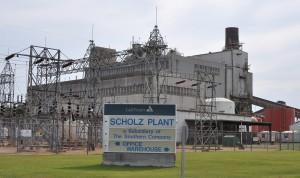 Plant Scholz near Sneads. Photo by Sean Smith, Gulf Power Co.