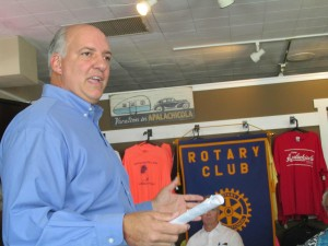"""U. S. Rep. Steve Southerland, R-Panama City, told the Rotary Club in Apalachicola that federal law changes he requested allows Congress to serve as a """"legislative backstop"""" in the tri-state water wars."""
