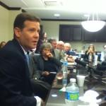 Senate President Andy Gardiner met with reporters.