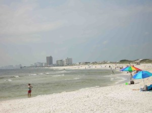 The view of Panama City Beach from St. Andrews State Park. Photo by Bruce Ritchie.